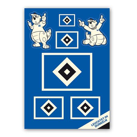 """HSV Aufkleber-Set """"Nachleuchtend"""""""