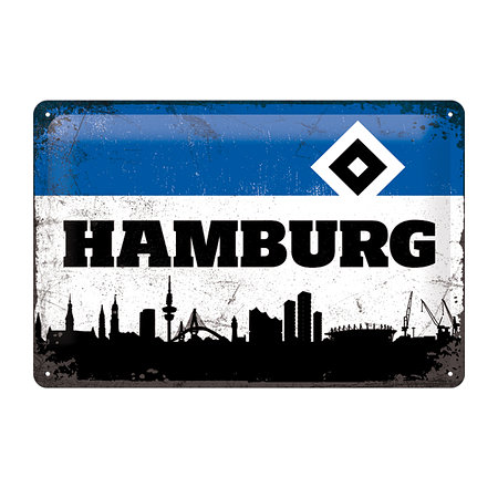 "HSV Blechschild ""Hamburg"""