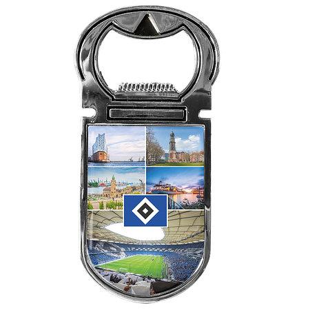 """HSV Flaschenöffner Magnet """"Hamburg"""""""