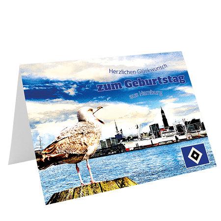 """HSV Geburtstagskarte """"Möwe"""""""