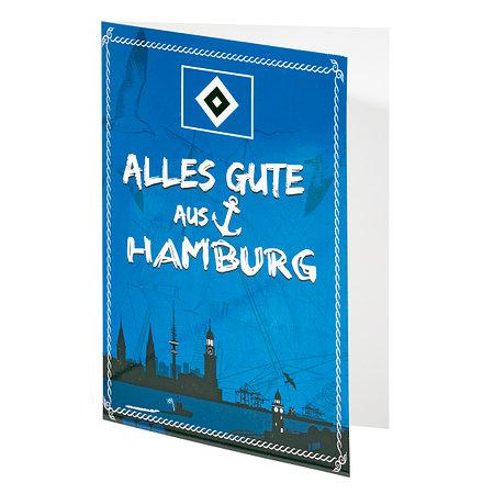 """HSV Grußkarte """"Alles Gute aus Hamburg"""""""