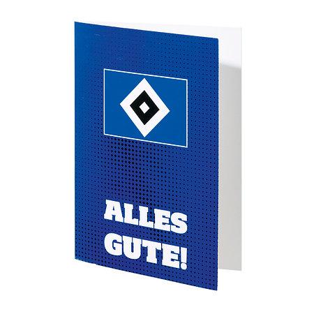 """HSV Karte """"Alles Gute"""""""