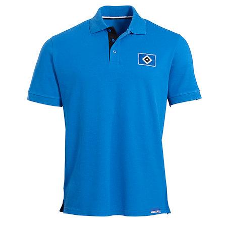 HSV Polo-Shirt Raute blau