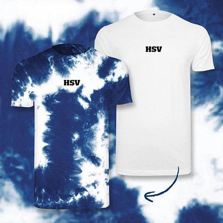 HSV T-Shirt mit Batikfarbe