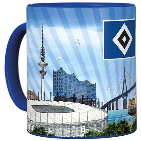 "HSV Tasse Metallic ""Hamburg"""