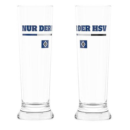 """HSV Weizenbierglas 2er-Set """"Nur der HSV"""""""
